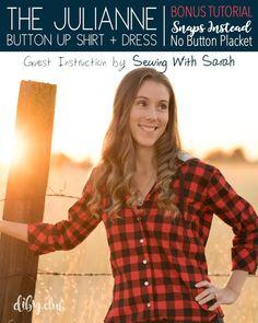 aab40a81334 Julianne Women s Button-up PDF Sewing Pattern