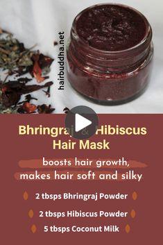 Herbs For Hair Growth, Hair Growth Oil, Natural Hair Growth, Natural Hair Styles, Hair Growth Mask Diy, Natural Beauty, Grow Long Hair, Grow Hair, Ayurveda Hair Care