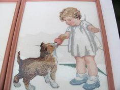 Vintage Nursery Decor Pictures Bucilla Girl by ThirstyOwlVintage, $42.50