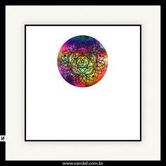 mandala, psicodélico, cores, yoga, arte