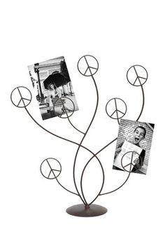 Peace Metal Photo Holder