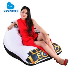 Home Furniture Living Room Furniture Levmoon Beanbag Sofa Chair Che Guevara Seat Zac Comfort Bean Bag Bed Cover Without Filling Cotton Indoor Beanbags Lounge Chair