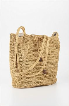 straw tote from J.Jill