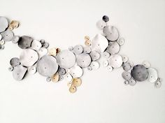 wall sculpture designed by Eri Dimitriadi, Elisavet Maroudi (diy with polymer) Ceramic Wall Art, Ceramic Pottery, Wall Sculptures, Sculpture Art, Wall Design, Design Art, Cerámica Ideas, Instalation Art, Wall Installation