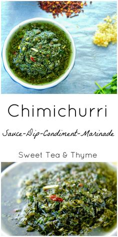 Amazing chimichurri sauce full of fresh herbs, garlic, and flavor! Put this on every meat you grill, dip bread or veggies in; paleo, gluten-free, vegan!