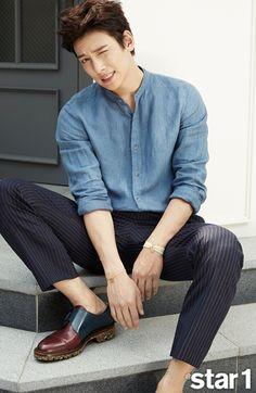 Ji Chang Wook in Korea Asian Actors, Korean Actors, Korean Fashion Men, Mens Fashion, Korean Men Style, Korean Celebrities, Celebs, Ji Chang Wook Photoshoot, Ji Chan Wook
