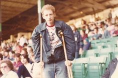 Gary Tuch...with the double crutch  {old Comiskey park}  1979
