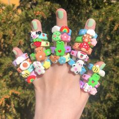 Fimo Ring, Polymer Clay Ring, Polymer Clay Flowers, Polymer Clay Crafts, Cute Crafts, Creative Crafts, Diy Clay Rings, Biscuit, Clay Plates