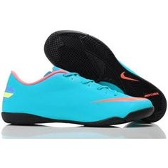 http://www.asneakers4u.com New Arrival Popular Nike Mercurial Victory III IC Indoor Football Trainers Soccer Cleats blue/pink