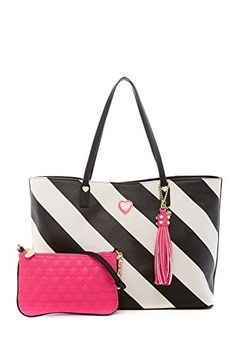 7ebc9e1852682 Betsey Johnson All That Jazz 2 in 1 Stripe Faux Leather T. Find this Pin  and more on Jherrell s diaper bag ...