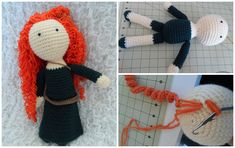 Would love to know how to do the crochet spirals. Crochet Gratis, Knit Crochet, Amigurumi Doll, Handmade Toys, Crochet Necklace, Crafts For Kids, Dolls, Cool Stuff, Hats