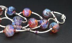 Artisan lampwork and silver necklace / 'Galaxy. by ElenaDoronina