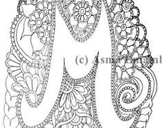Printable Coloring Page Letter M Aplhabet
