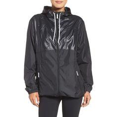 Women's Columbia Flashback Long Windbreaker Jacket ($75) ❤ liked on Polyvore featuring activewear, activewear jackets, columbia, columbia sportswear and columbia activewear