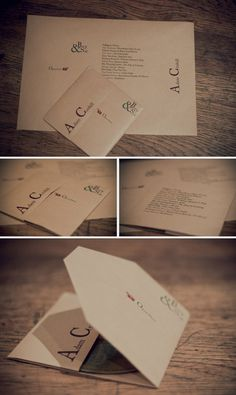 {diy Wedding Ideas} CD Favor & Place Seating Card