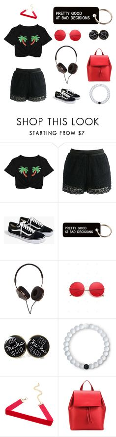 """The good and the bad."" by garnxt ❤ liked on Polyvore featuring Chicwish, J.Crew, Various Projects, Frends, Lokai and Aesther Ekme"