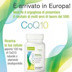 NeoLife usa tecnologie biogeniche all'avanguardiaper fornire un CoQ10 naturale  di qualità farmaceutica,in una forma altamente bi...