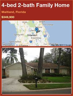 4-bed 2-bath Family Home in Maitland, Florida ►$349,900 #PropertyForSale #RealEstate #Florida http://florida-magic.com/properties/73190-family-home-for-sale-in-maitland-florida-with-4-bedroom-2-bathroom