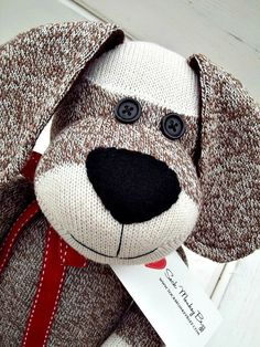 Sock+Monkey+Doll+Long+Eared+Puppy+Dog+by+SockMonkeyBizz+on+Etsy,+$39.25