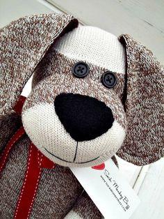 Sock+Monkey+Doll+Long+Eared+Puppy+Dog+by+SockMonkeyBizz+on+Etsy,+$39.25