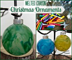 Melted Crayon Christmas Ornament - Christmas in July : Upstate Ramblings