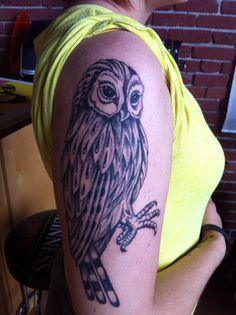 my sisters, barn owl tattoo