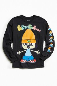 Urban Outfitters Parappa The Rapper Long Sleeve Tee