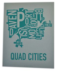Quad Cities poster $18