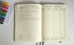 bullet journal budgeting savings and expenses tracker