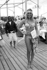 The Gorgeous #Swimsuit #Model at #Bagatelle Beach Saint Tropez... oooh la la! #Sexy Lady