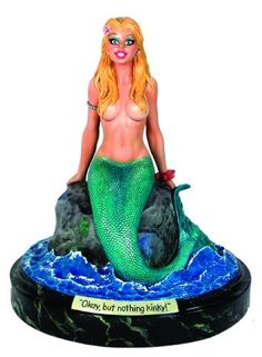 "CS Moore Studios Doug Sneyd's Mermaid Statue by CS Moore Studios. $143.68. First-ever statue based on the artwork of Playboy magazine's Doug Sneyd. Depicts a never-before-published mermaid cartoon by the artist. Sculpted by Clayburn Moore. Stands 7"" tall, in 1:8 scale. Includes certificate of authenticity signed by both artist Doug Sneyd and sculptor Clayburn Moore. From the Manufacturer                The C.S. Moore Studio Ltd. Presents the first-ever limited editio..."
