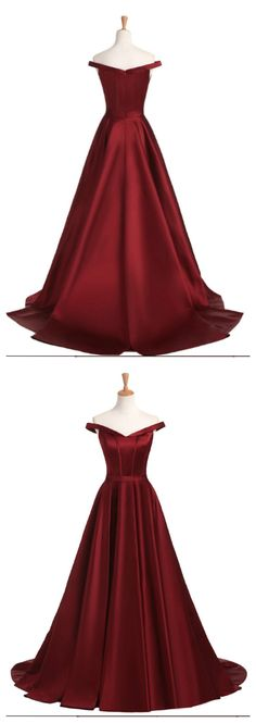 Burgundy Satin Prom Dress,Long Prom Dresses,Prom Dresses,Evening Dress, Evening Dresses,Prom Gowns, Formal Women Dress P0519 #shoppingonline #promdresses #longpromdresses #offtheshoulderpromdresses #2018promdresses #2018newstyles #fashions #styles #hiprom