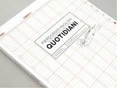 Piergiorgio Maoloni - Quotidiani by Chiara Athor Brolli, via Behance