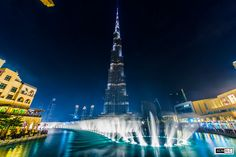 Photo Burj Khalifa - Dubai Fountain by Atheer Mahir on Big Moon, Burj Khalifa, Fountain, Dubai, Projects To Try, Places To Visit, Dance, Architecture, City
