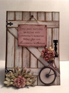 Birthday card. May yoUr birthday be filled with yesterday's memorIes, today's joys and tomorrows dreams.