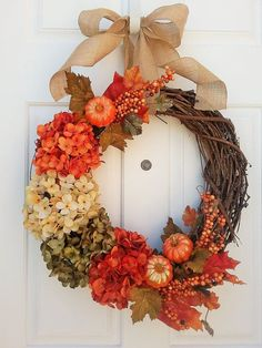 Fall Wreath Fall Wreaths Fall Home Decor by CountryHomeandHeart