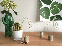 DIY - concrete wire cactus