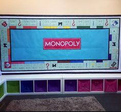 Giant classroom monopoly board! Create your own chance and challenge questions to fit the subject you're looking at.