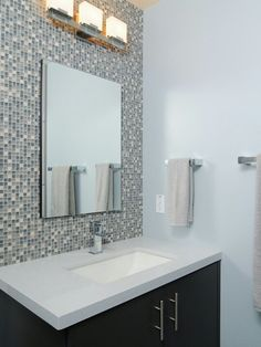 Pixilated Bathroom Design Made with Mosaic Bathroom Tiles bathroom custom mosaic Nice Wall with Modern Bathroom Mosaic Design Modern Bat. Mosaic Bathroom, Bathroom Tile Designs, Modern Bathroom Design, Bathroom Flooring, Bathroom Ideas, Mirror Bathroom, Basement Bathroom, Bathroom Cabinets, Shower Ideas