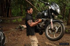 Real Strong Man Like John Abraham Lifting Bike