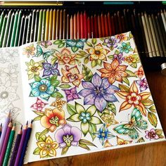Goodmorning dear colourists and fans 🍀Finished my colorful flowers in the MJ from Johanna 💜🌺have a nice day or evening. Secret Garden Coloring Book, Coloring Book Art, Colouring Pages, Adult Coloring, Diy Collage, Magical Jungle Johanna Basford, Johanna Basford Secret Garden, Johanna Basford Coloring Book, Colored Pencil Techniques