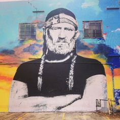 """Austin Texas Things on Instagram: """"#MuralMonday! Willie embodies the spirit of Austin!⠀ Double-Tap if you agree!⠀ Have you seen the Willie Nelson mural downtown?⠀ Tag-a-…"""""""