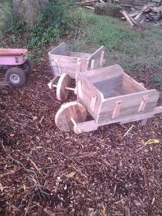 Wheel barrow planters from pallets