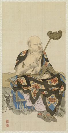 """from """"Album Depicting the Sixteen Lohans (Arhats)"""", 1851 by Shodo Sho"""