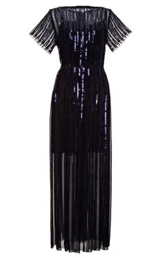 Shop Sequined and Embroidered Pleated Midi Dress by Marc Jacobs
