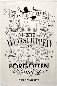 Cats Tea Towel ~ Discworld.com