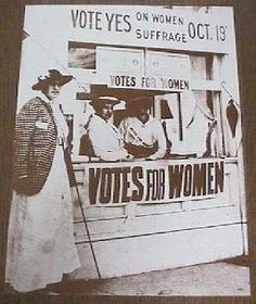 Remember that voting was hard-won by women's suffrage.