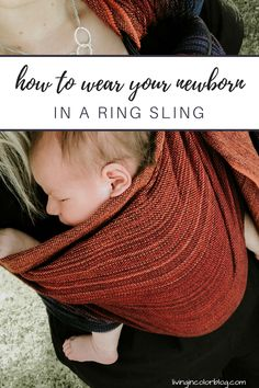 Babytragen Neugeborene: How to Wear Your Newborn in a Ring Sling - Baby World Ring Sling Carries, Wildbird Ring Sling, Baby Wrap Newborn, Baby Sling Wrap, Baby Slings, Baby Wearing Wrap, Baby Aspen, Baby Carrying