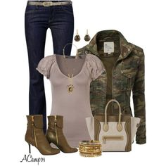 Olive And Brown2, created by anna-campos on Polyvore