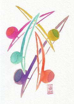 Encres : Capoeira - 254 [ #capoeira #watercolor #illustration ]